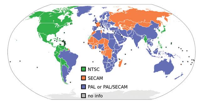 Распространение стандартов аналогового ТВ в мире. Ну почему мы не можем ладить друг с другом?