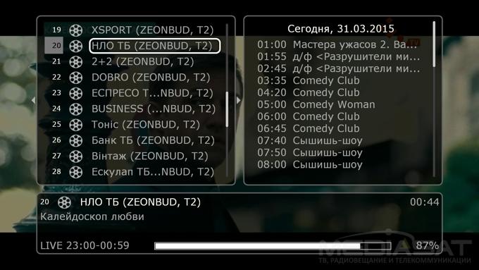 T2 список каналов