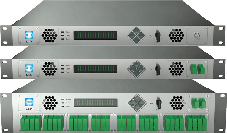 Рисунок 5. Оптический передатчик LX10 и оптические усилители LX35/LX37.