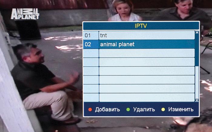 Рис. Выбор канала IPTV