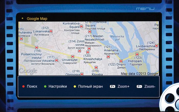 Рис. Google maps: режим карты