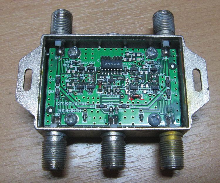 Рисунок 3 – Место установки конденсатора на плате четырехвходового коммутатора
