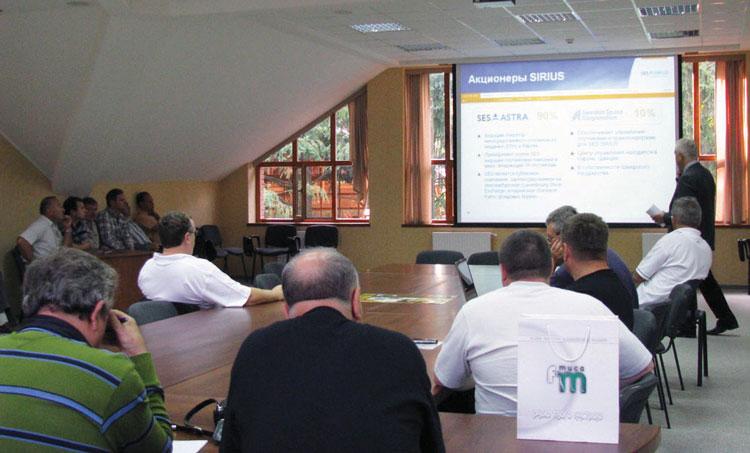 Гости ЗОДТРК на семинаре, проводимом в Ужгороде компанией SES Astra.