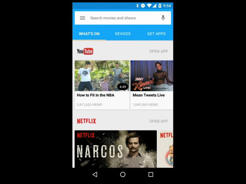 google chromecast 2015 whats on