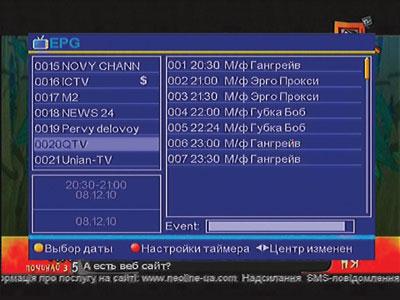 Программа передач на день