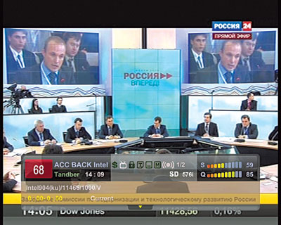 Intelsat 904, 60 гр.в.д. Прием канала «Россия 24» (SR=1000)