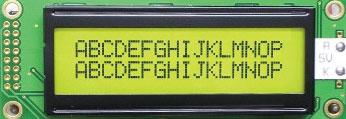 Рис. А2. Индикатор HD44780
