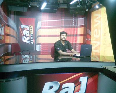Студия новостного канала Raj News 24x7