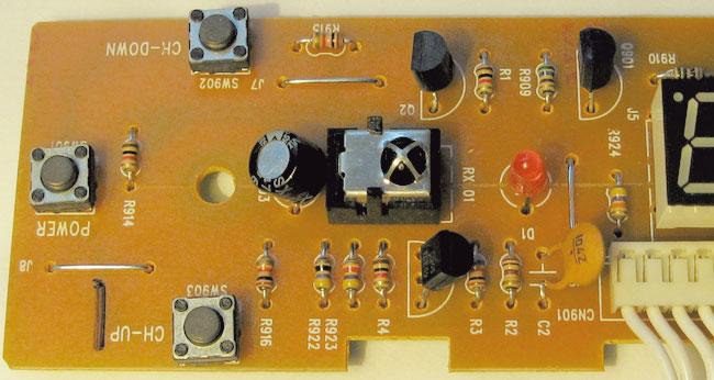 Рис. 4. Фотография платы передней панели ресивера