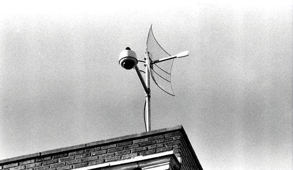 Рисунок 2. Пример расположения стационарного пункта видеонаблюдения на крыше здания.