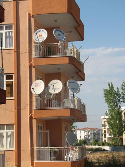 Балкон многоэтажного дома