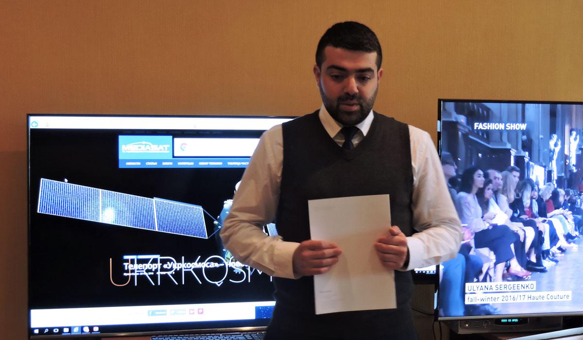 Мансур Сеидзаде, представитель оператора Azercosmos