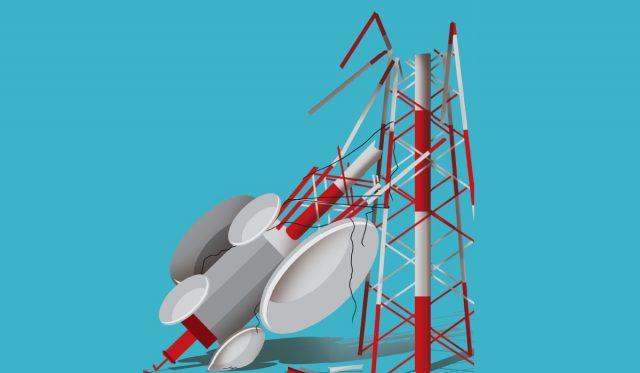 telecom tower up down