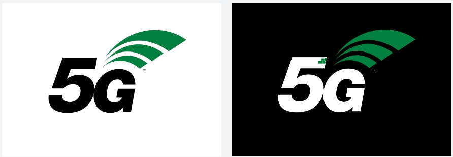 5G new logo black white green 2017