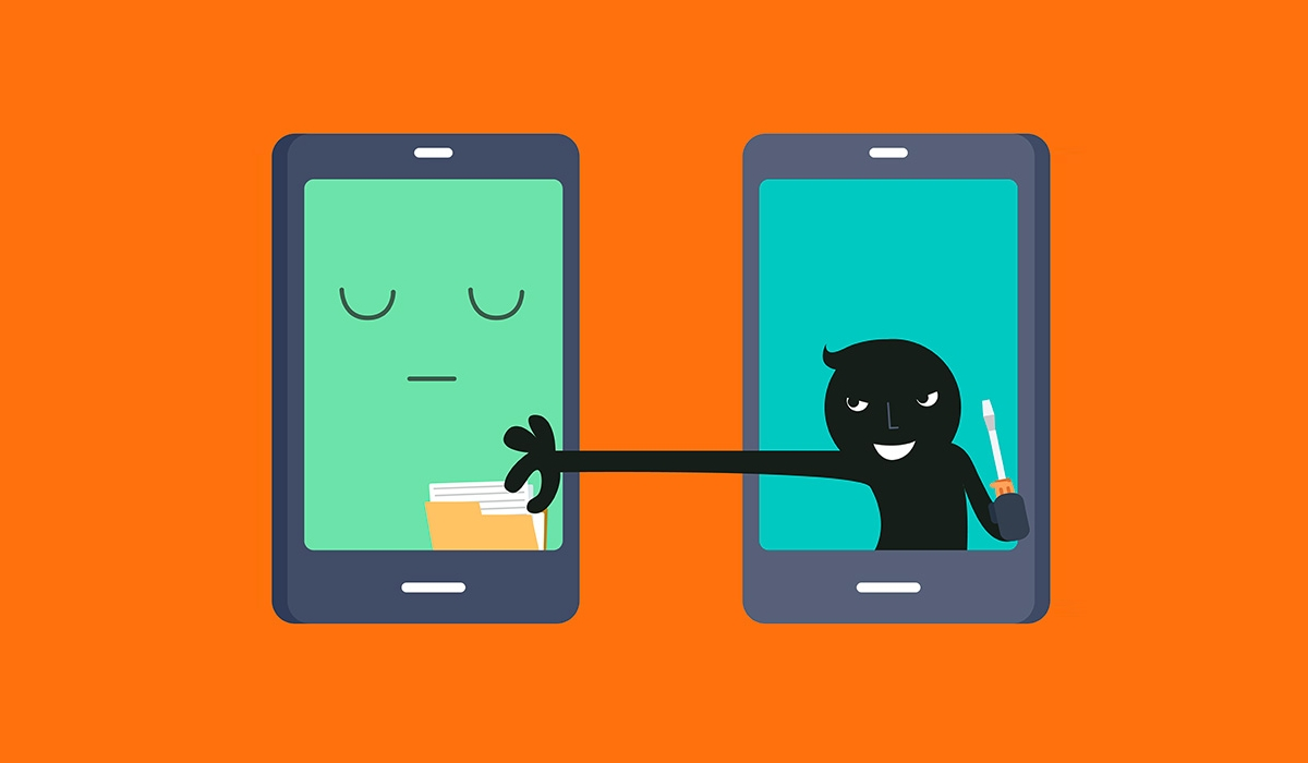 Hacker smartphone / хакер / кибератака