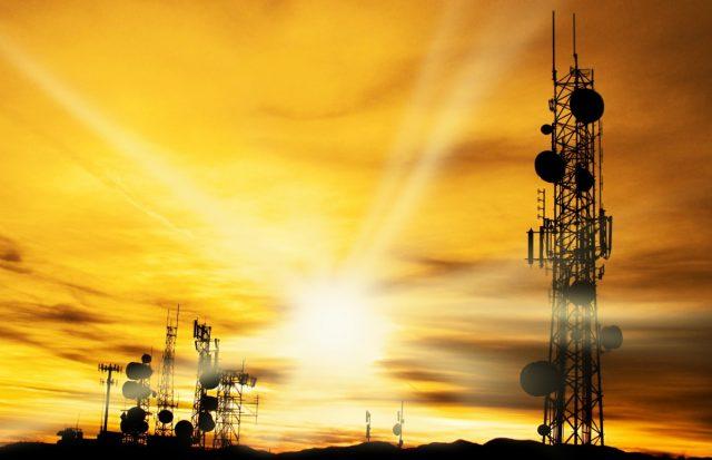 tower sunset / telecommunications