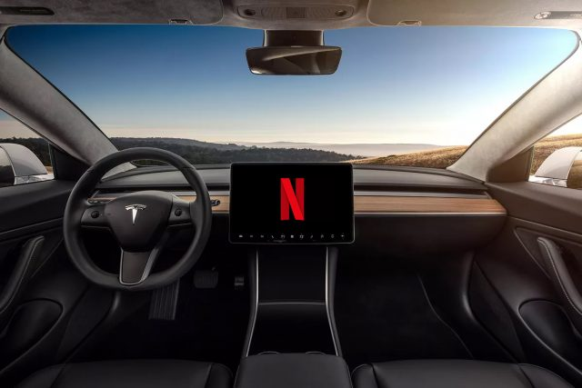 Tesla Netflix and YouTube