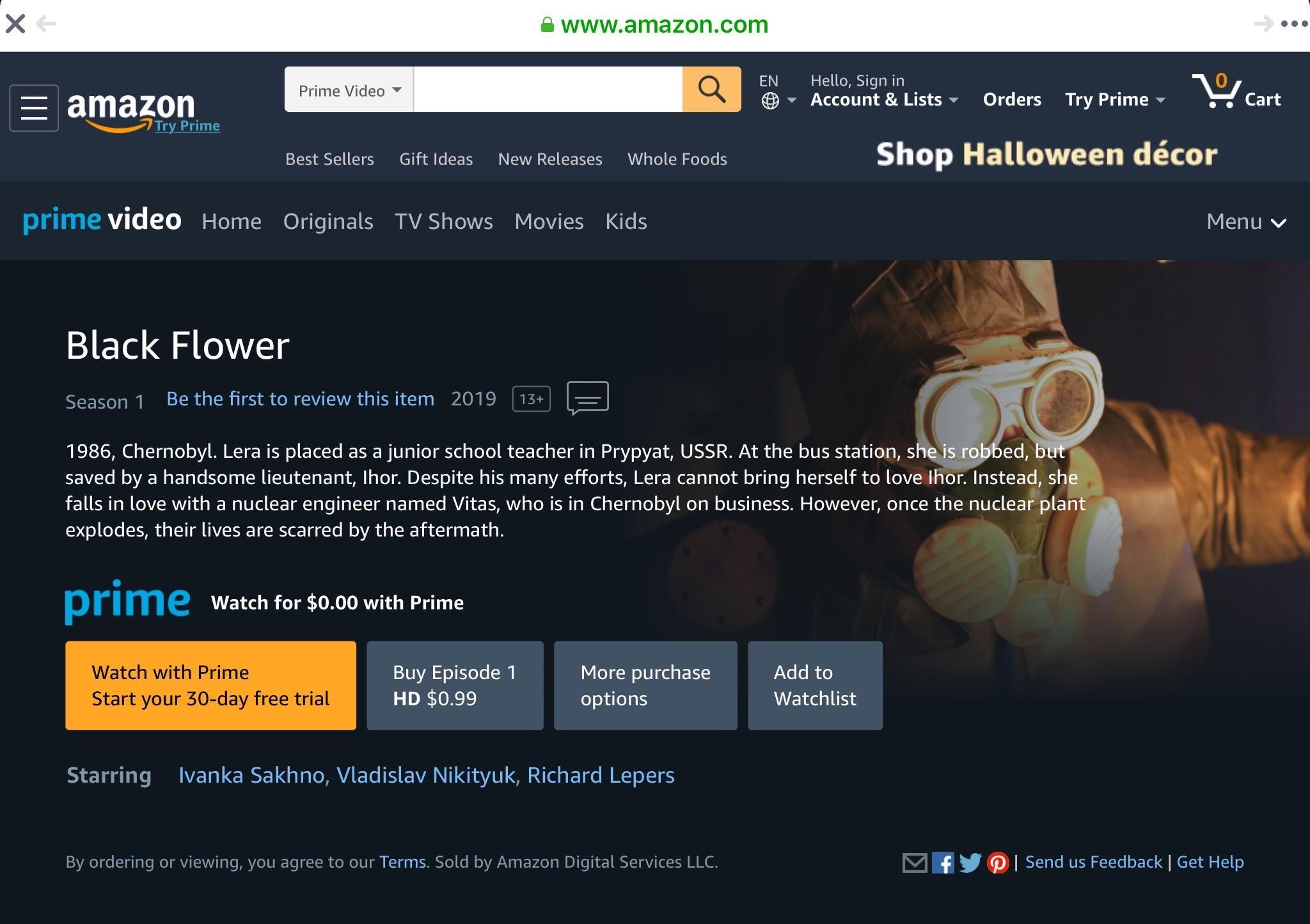 Сериал «Черный цветок» на Amazon Prime Video
