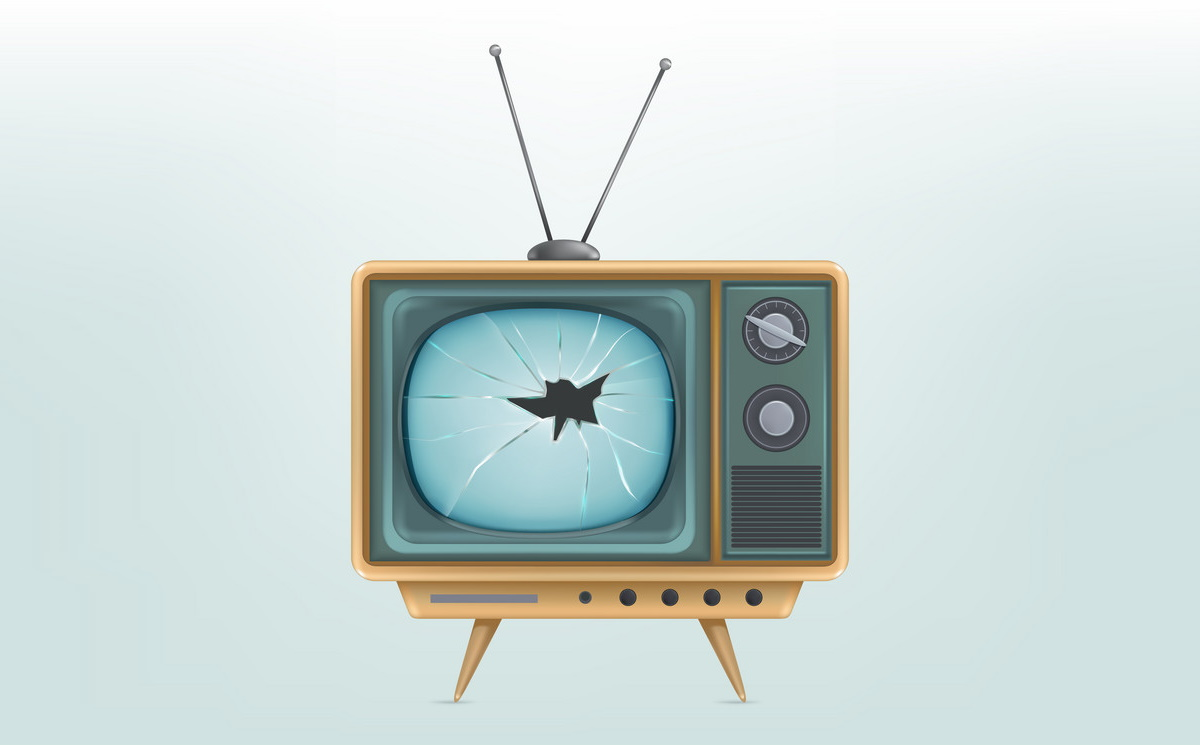 Сломаный телевизор / broken tv