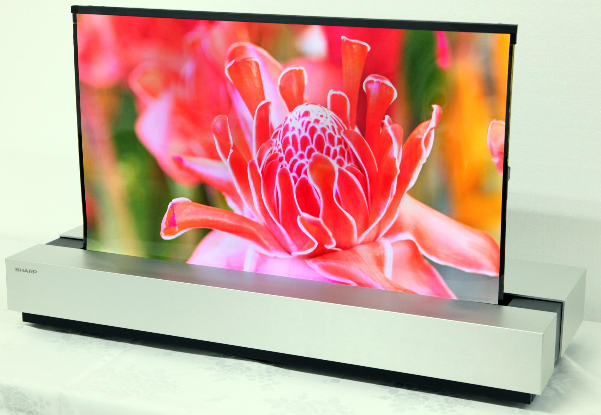 Sharp и NHK совместно разработали новый рулонной 30-дюймовый OLED дисплей