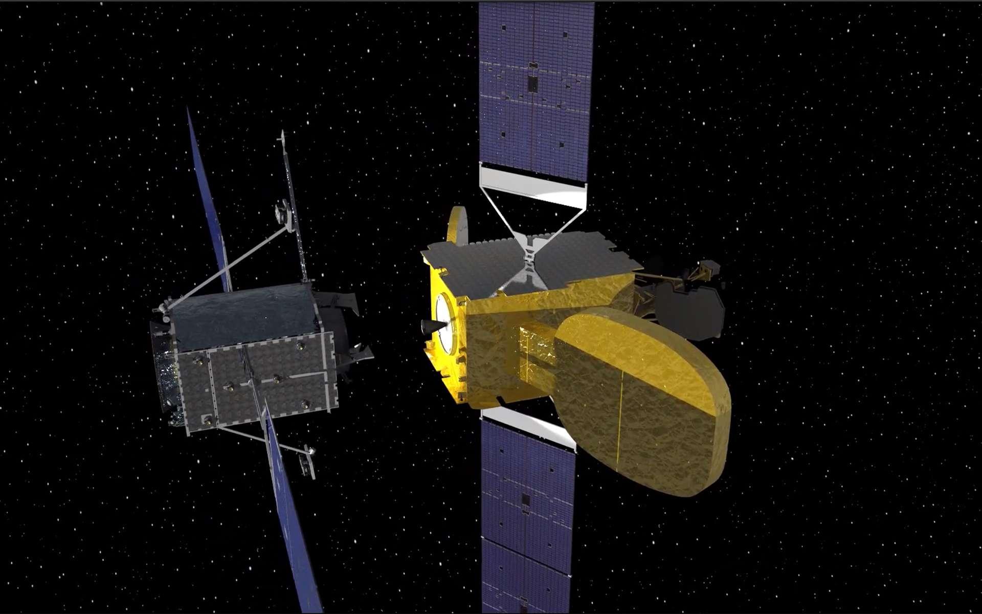 Стыковка спутников MEV-1 и Intelsat 901