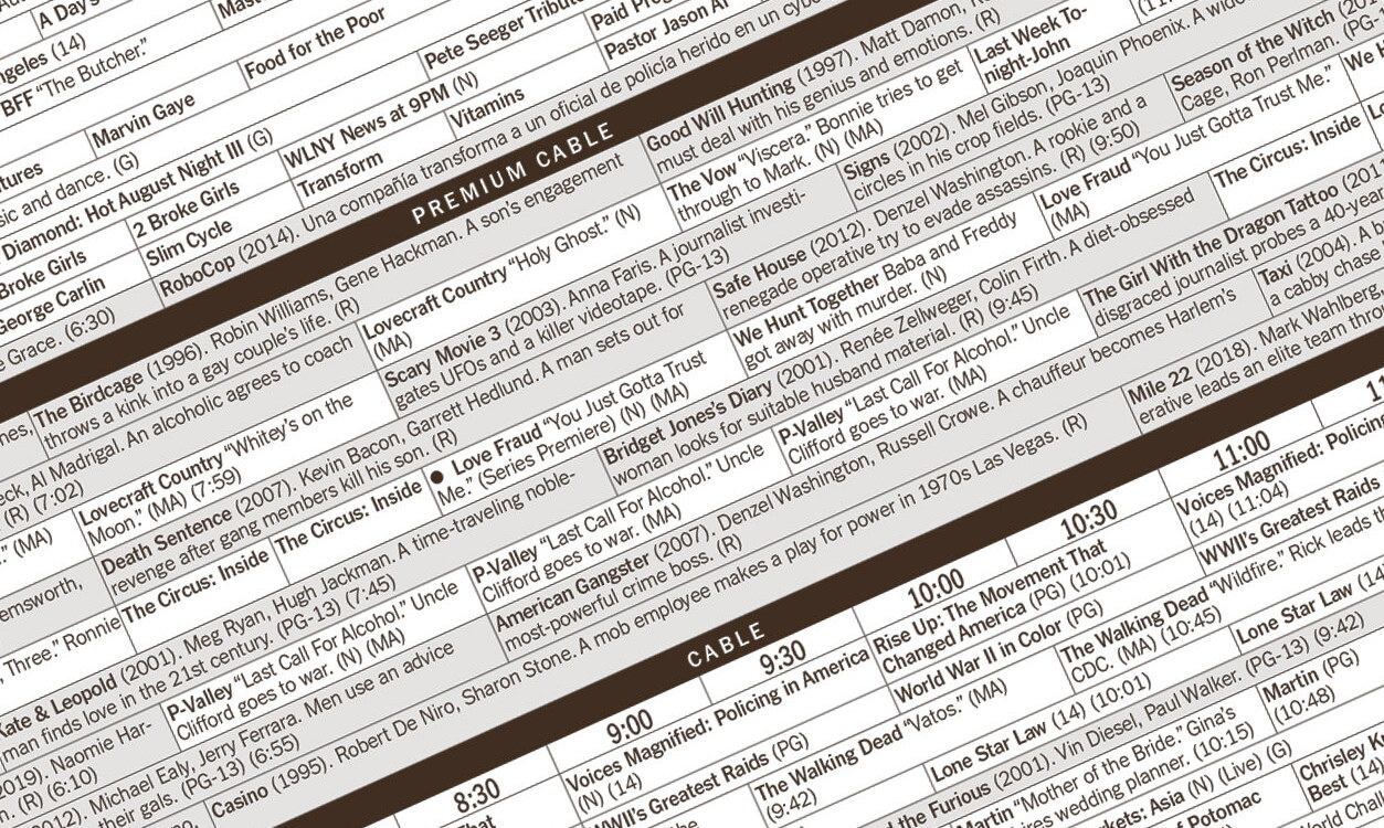 Телепрограмма в The New York Times / The New York Times TV Listings