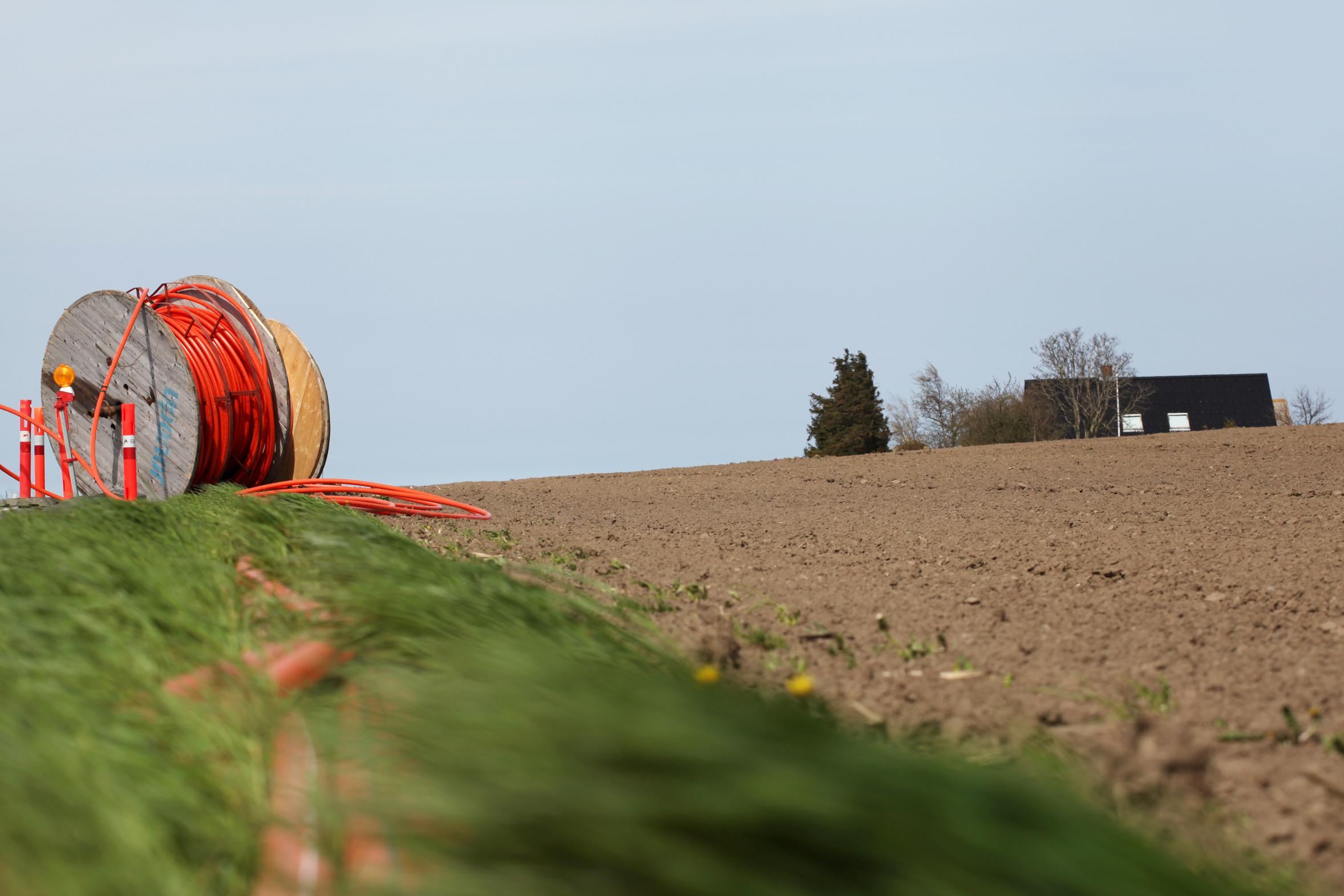 Волокно в сельской местности