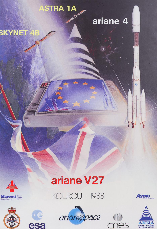 Брошюра запуска спутника Astra 1A в 1988 году