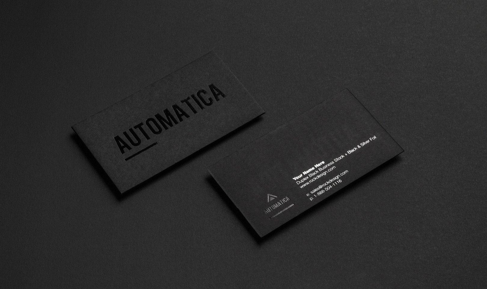 Визитка / BLACK BUSINESS CARDS
