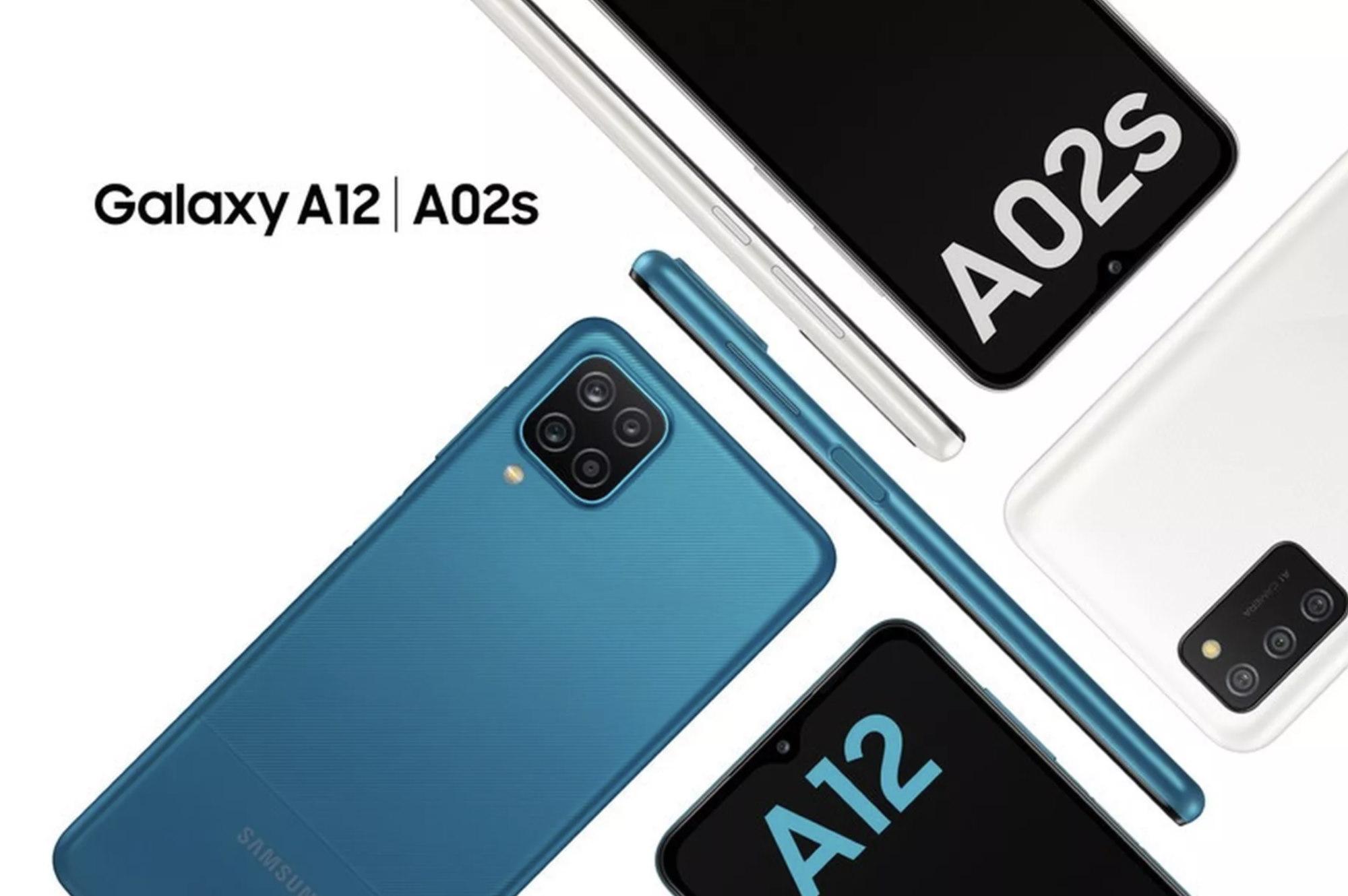 Samsung Galaxy A02s и Samsung Galaxy A12
