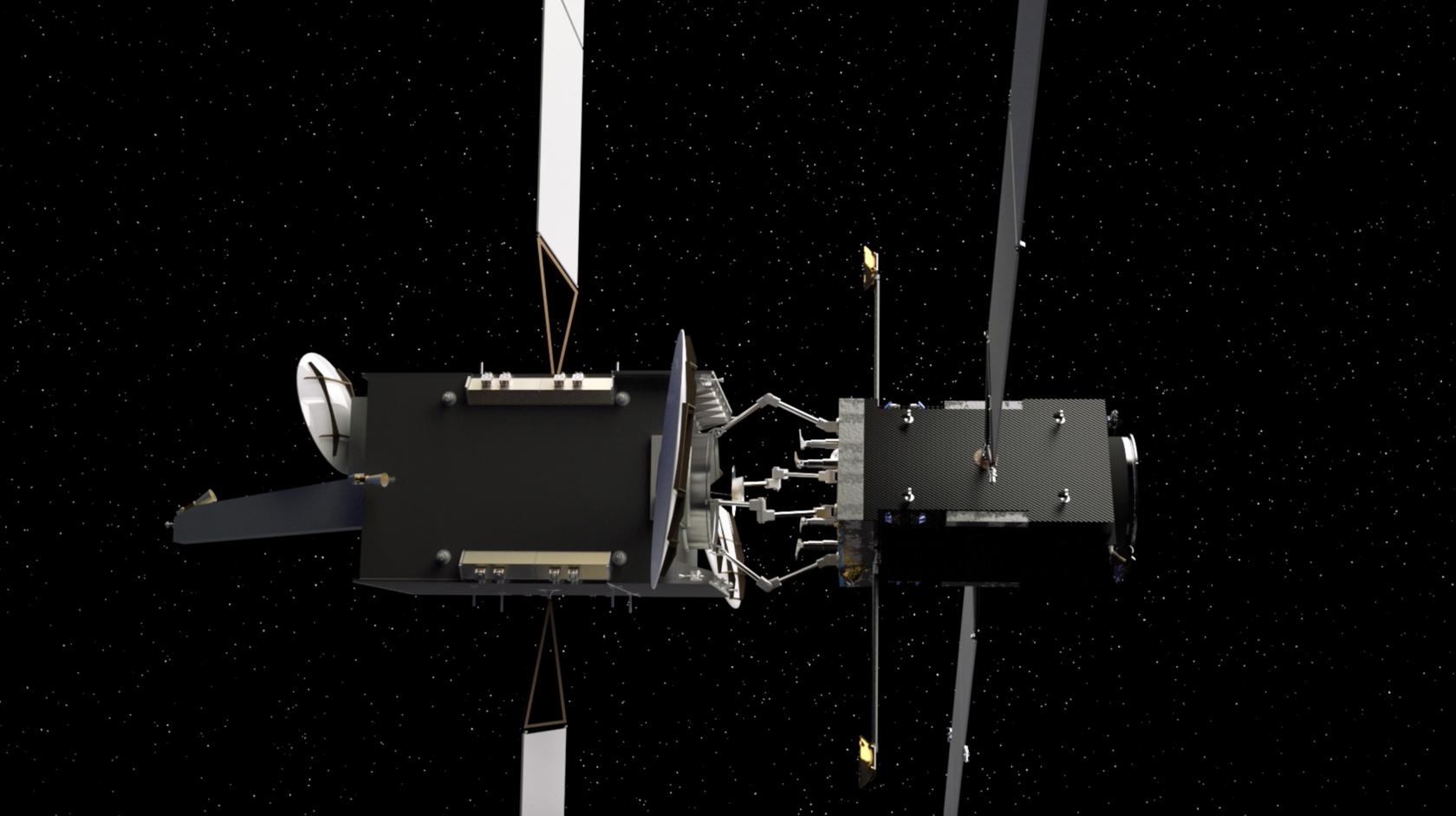 Демонстрационный модуль Kurs Orbital на орбите / Kurs Orbital servicing vehicle concept