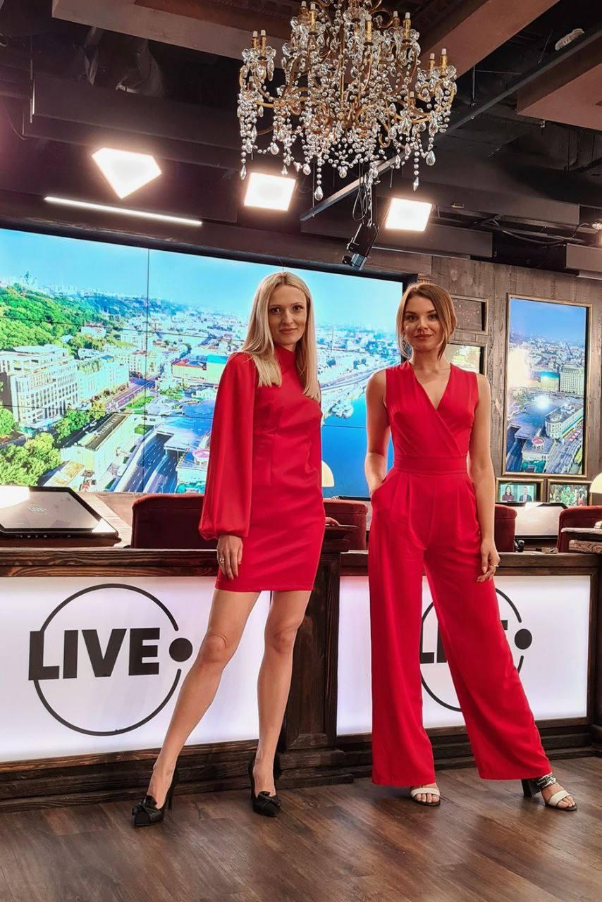 Анна Малиновская и Валерия Лобач, телеканал LIVE