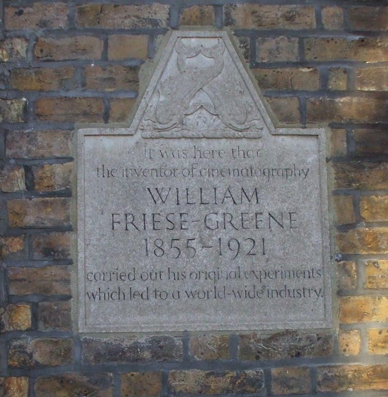 Мемориальная доска в честь Уильям Фризе-Грин