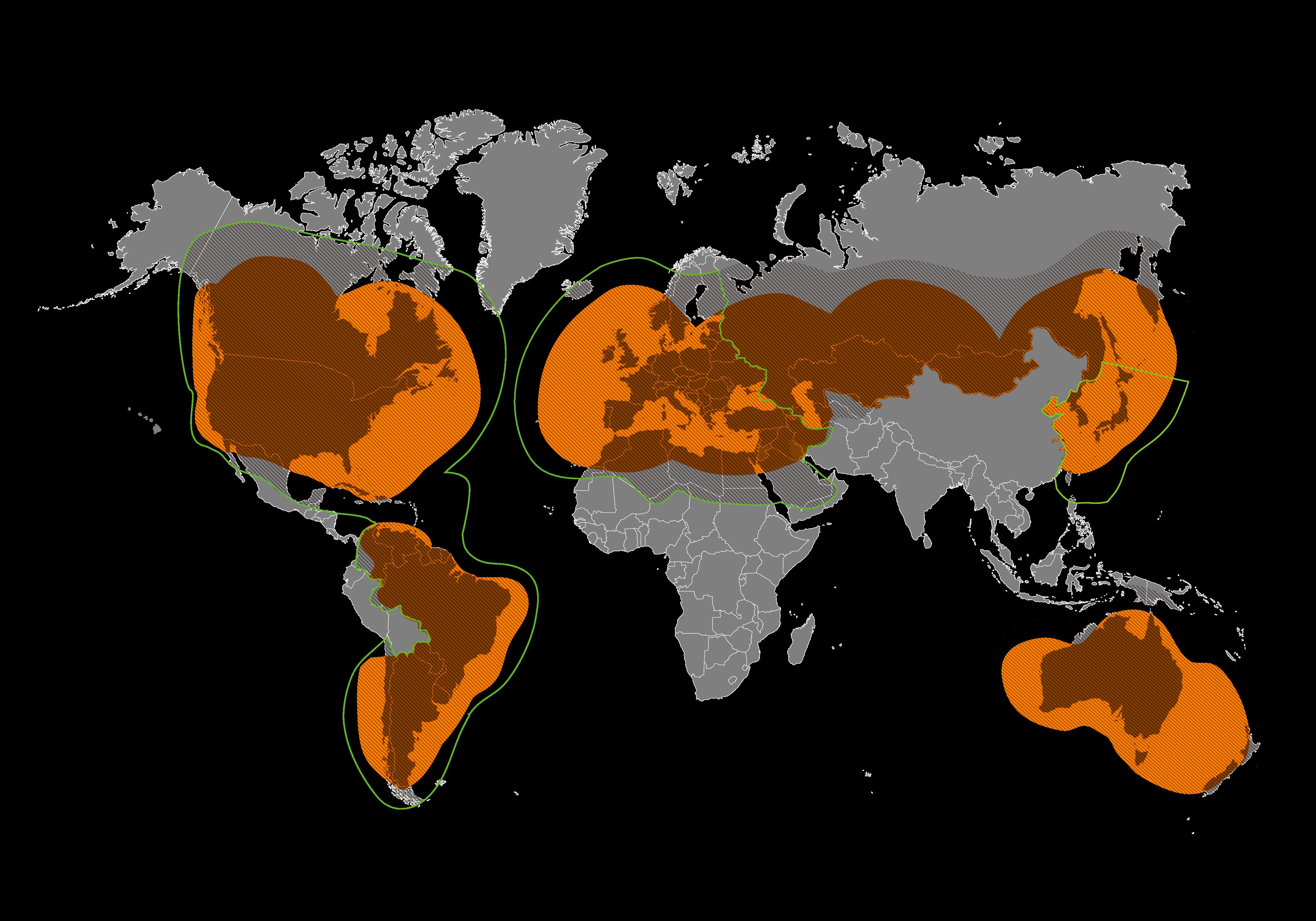 Зона покрытия, где возможна передача данных и голоса